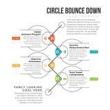 Rebond de cercle vers le bas Image stock