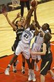 Rebond du Québec Manitoba de basket-ball Photos libres de droits