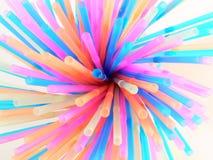 Rebondissement coloré de beaucoup de pailles photo libre de droits