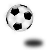 Rebondissement de bille du football Photo stock