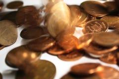 Rebondissement de l'argent Photos stock