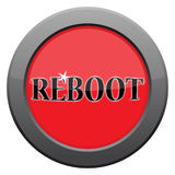 Reboot Dark Metal Icon. A reboot dark metal icon isolated on a white background stock illustration
