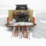 Reboque com ATV. Imagens de Stock Royalty Free