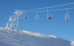Reboque de corda à parte superior da montanha Foto de Stock