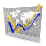 Rebote económico global ilustración del vector