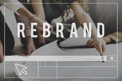 Rebrand变动身分烙记的样式图象概念 免版税库存图片