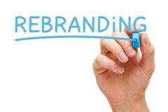 Rebranding Hand Blue Marker Royalty Free Stock Photos