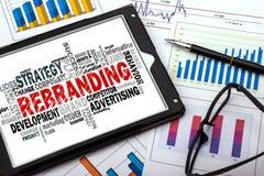 Rebranding word cloud Royalty Free Stock Image