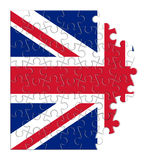 Rebuild england - concept image in puzzle shape.  Royalty Free Stock Photos