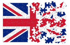 Rebuild england - concept image in puzzle shape Stock Image