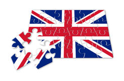 Rebuild england - concept image in puzzle shape.  Stock Photography