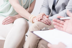 Rebuild family relationships on psychotherapy Stock Image
