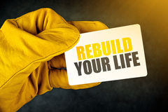 Rebuild Your Life on Business Card Stock Image