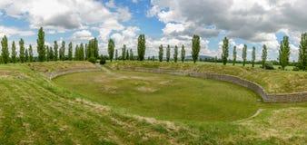The rebuilde roman city of carnuntum near vienna Royalty Free Stock Photo