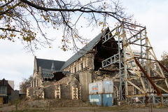 Rebuilding of Christchurch Cathedral Stock Photo