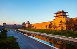 The rebuilding city wall of Datong. Stock Photo