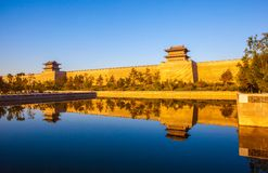 The rebuilding city wall of Datong. Stock Image