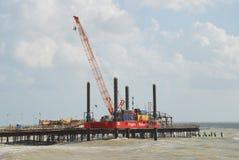 Rebuilding Hastings pier Stock Image