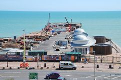 Rebuilding Hastings pier Stock Photo