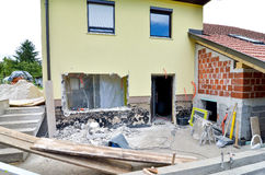Rebuilding a house and adding an extension Stock Photo