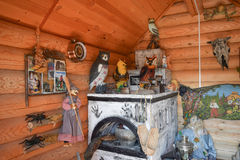 Rebuilding the image of the internal decoration of the house of Baba Yaga Stock Images