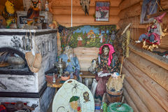 Rebuilding the image of the internal decoration of the house of Baba Yaga Stock Photo