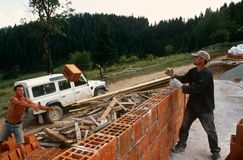 Rebuilding in Kosovo. Stock Photography