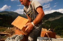 Rebuilding in Kosovo. Royalty Free Stock Image
