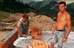 Rebuilding in Kosovo. Stock Image