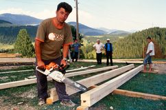 Rebuilding in Kosovo. Royalty Free Stock Photo