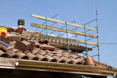 Rebuilding of a roof Royalty Free Stock Images