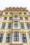 Rebuilt buildings in Dresden. Historic rebuilt baroque buildings in Dresden, Germany Stock Image