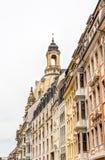Rebuilt buildings in Dresden. Historic rebuilt baroque buildings in Dresden, Germany Royalty Free Stock Image