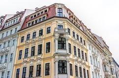 Rebuilt buildings in Dresden. Historic rebuilt baroque buildings in Dresden, Germany Stock Photo