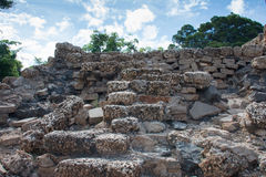 Rebuilt coral wall Stock Photo