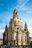 Frauenkirche Our Lady church and statue of Martin Luther in the center of old town in Dresden, Germany stock photos