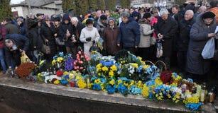 Reburiall 52 ofiary fascism - Ukraińscy patriota fotografia stock