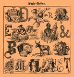 Rebus, illustrated riddles, old magazine Royalty Free Stock Photography