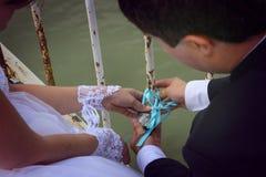 Recém-casados no amor Imagem de Stock Royalty Free
