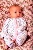 Recém-nascido feliz satisfeito Imagens de Stock Royalty Free