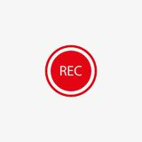 Rec button vector icon Stock Images