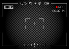 Rec camera viewfinder dark Royalty Free Stock Photography