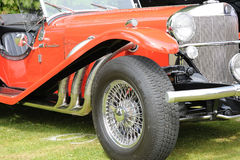 Rec Classic Car. A front view of a beautiful red classic car Stock Images