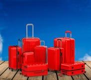 Rec hard case luggages Stock Image