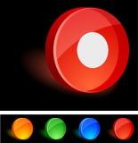 Rec Icon. Rec 3d icon. Vector illustration Stock Photography