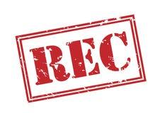 Rec stamp on white background. Rec red vintage stamp isolated on white background Royalty Free Stock Photo