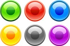 Rec. [Vector]. 6 high-detailed buttons. Rec.  Vector illustration Stock Image