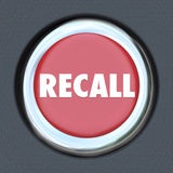 Recall Car Ignition Button Vehicle Repair Fix Defective Lemon Stock Photos