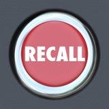 Recall Car Ignition Button Vehicle Repair Fix Defective Lemon stock illustration