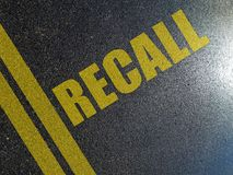 Recall procedures concept royalty free stock image